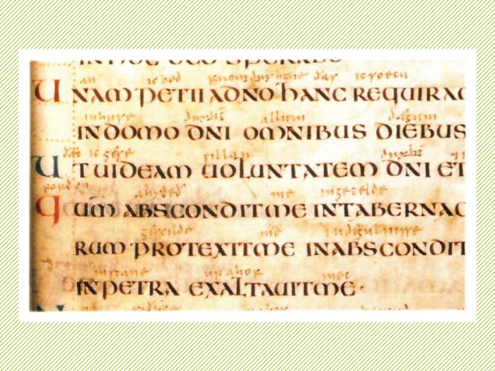 Vespasian Psalter. Siglo VIII.
