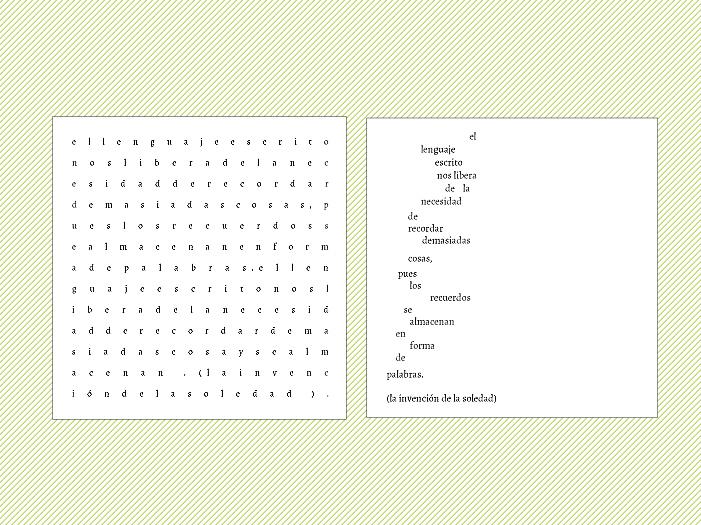 Diferentes ritmos en dos puestas tipográficas