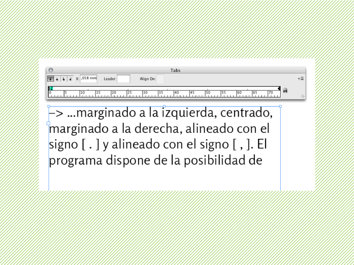 Tabulado en InDesign