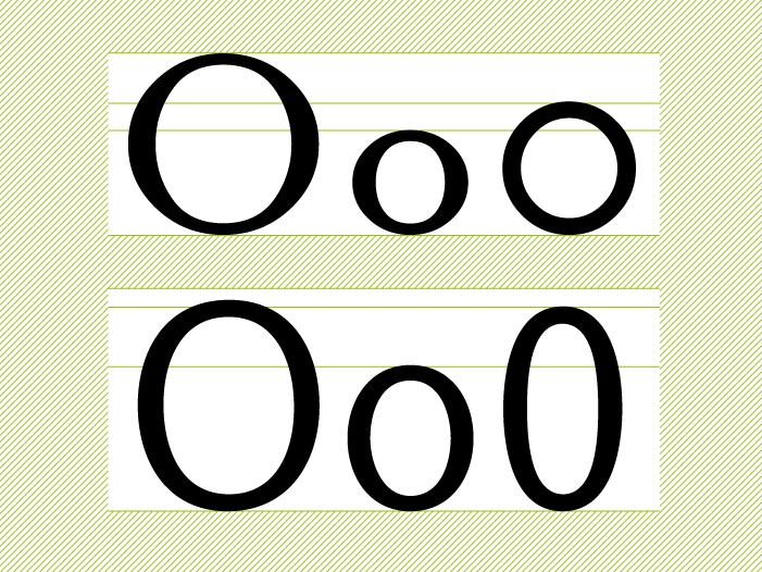 Mayúsculas, minúsculas, números y signos | OERT