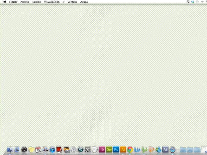 Pantalla con la interfaz del sistema operativo MacOs X.