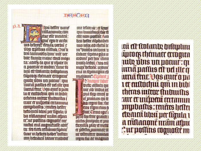Sagrada Biblia copiada en 1443 por el escriba Henricus de Vullenho.