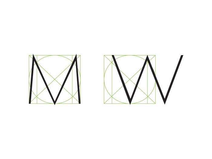 Estructura: letras anchas