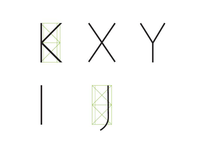 Estructura: letras angostas