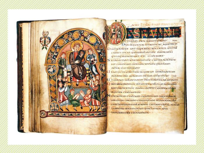 Vespasian Psalter (siglo VIII).